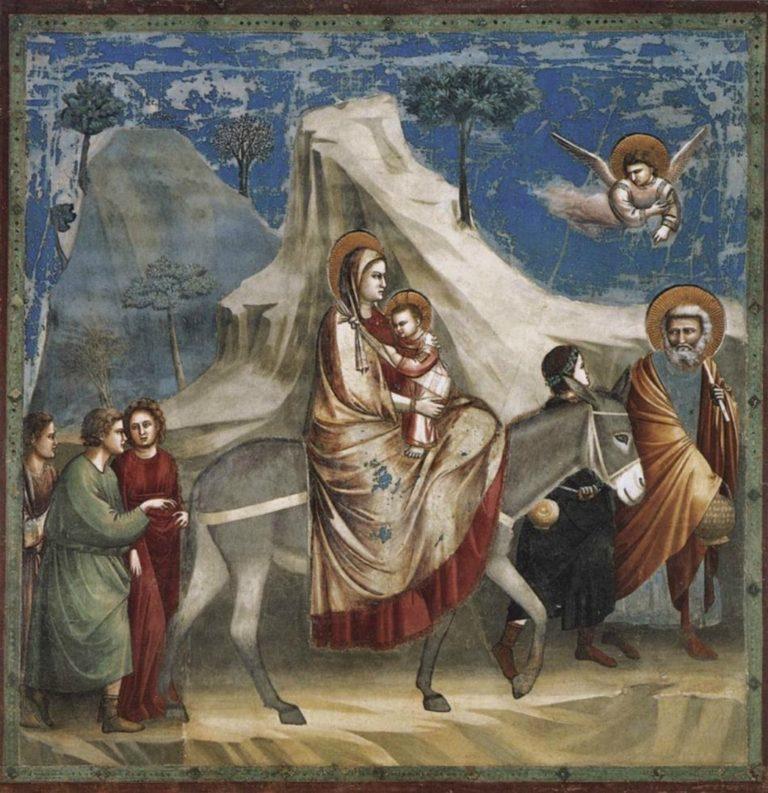 Бегство в Египет. 1303–1305