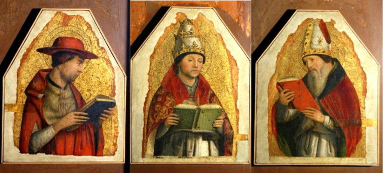 Бл. Иероним, свт. Григорий Великий, бл. Августин. 1472