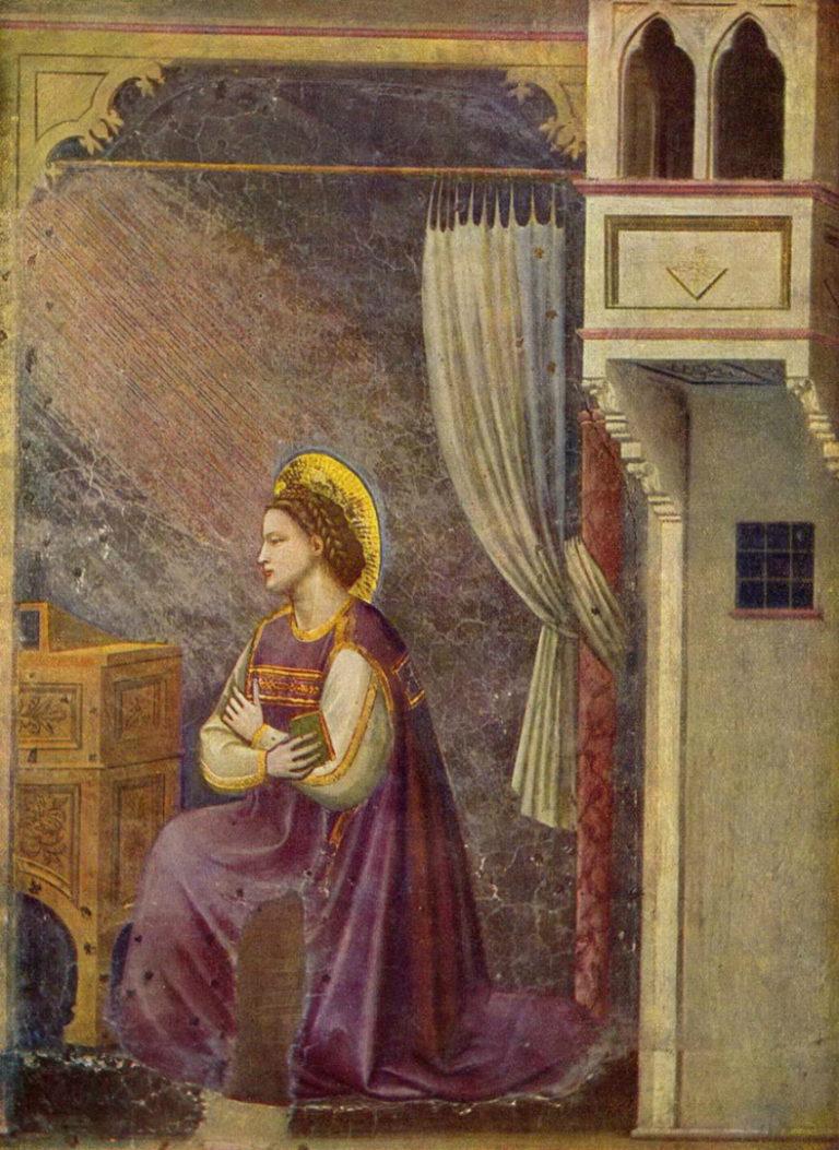 Благовещение. Дева Мария. 1303–1305