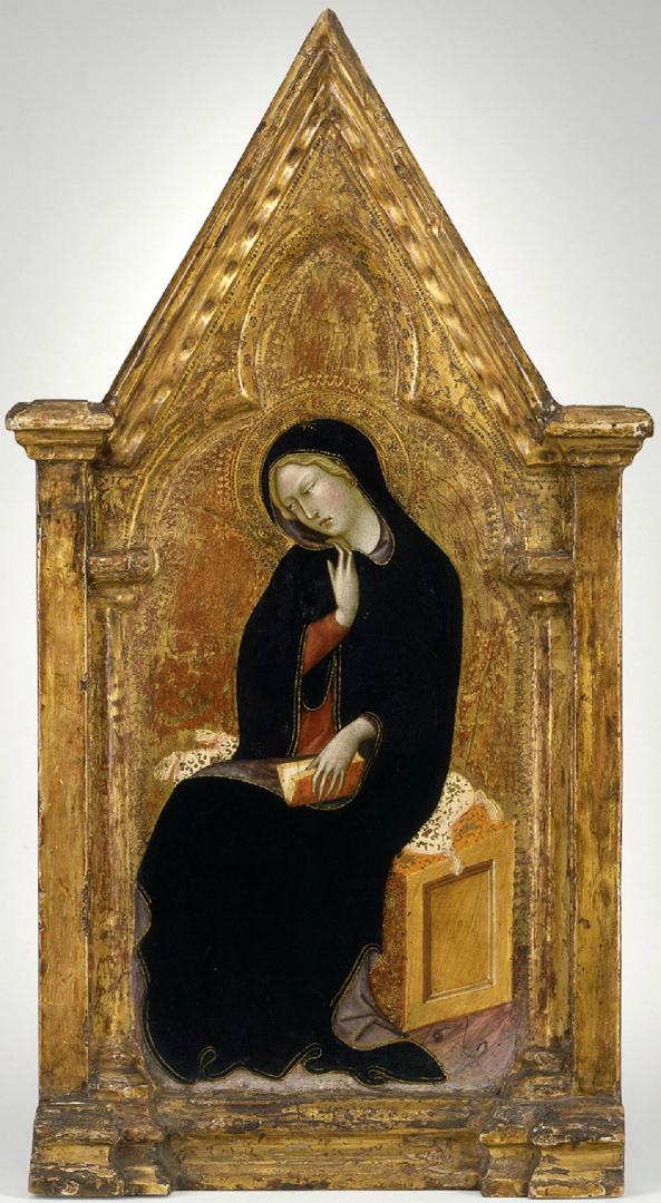 Благовещение. Фрагмент. Дева Мария. 1388