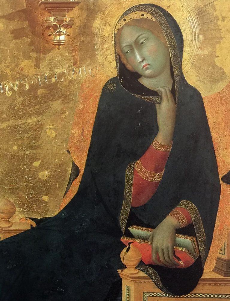 Благовещение. Фрагмент. Дева Мария. 1333