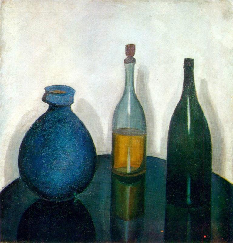 Бутылки и кувшин. 1912