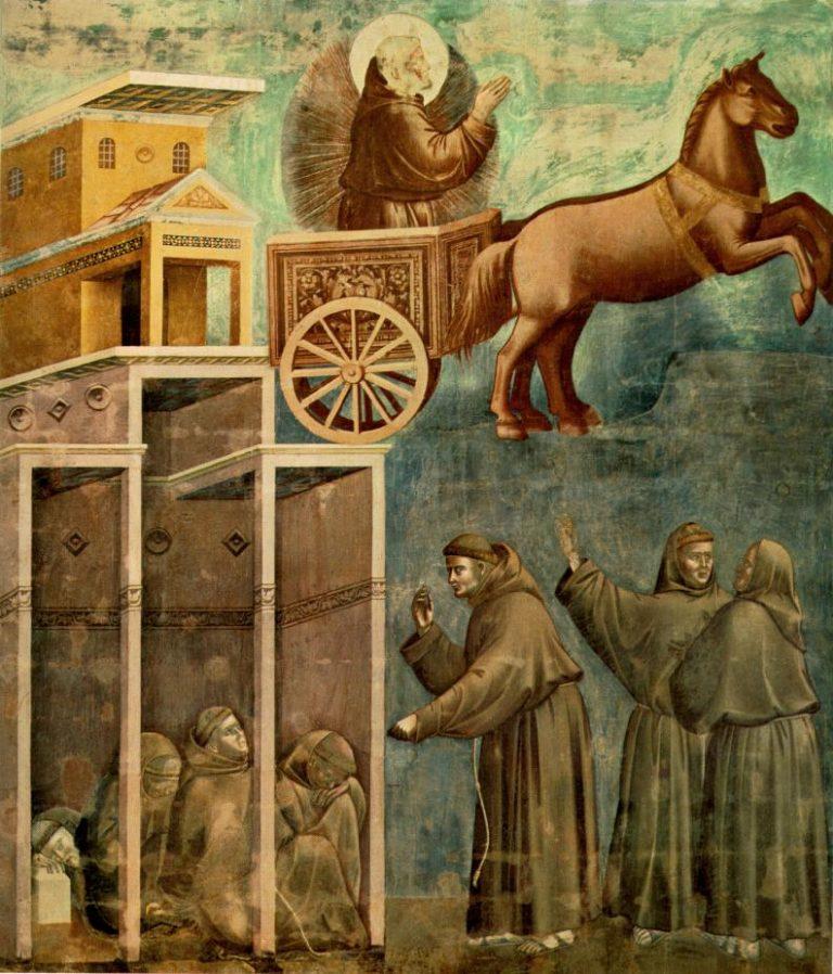 Чудесное явление св. Франциска братии. Ок. 1296–1304