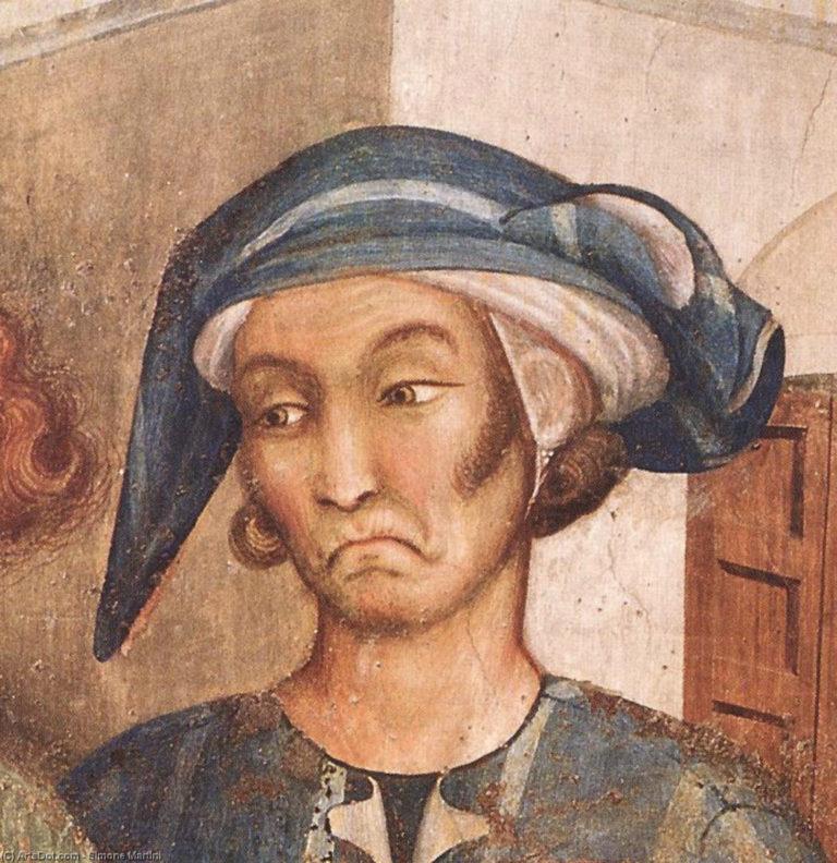 Чудо с воскресшим ребенком. Фрагмент. 1313–1318