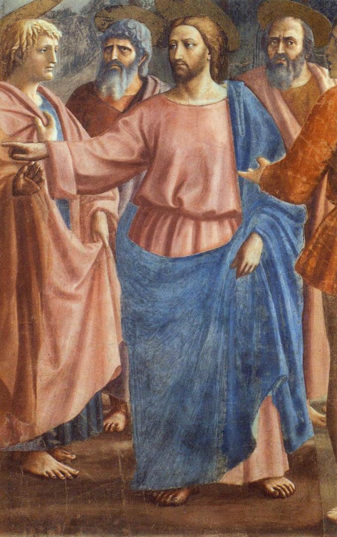 Чудо со статиром. Фрагмент. Фигура Христа. Ок. 1425