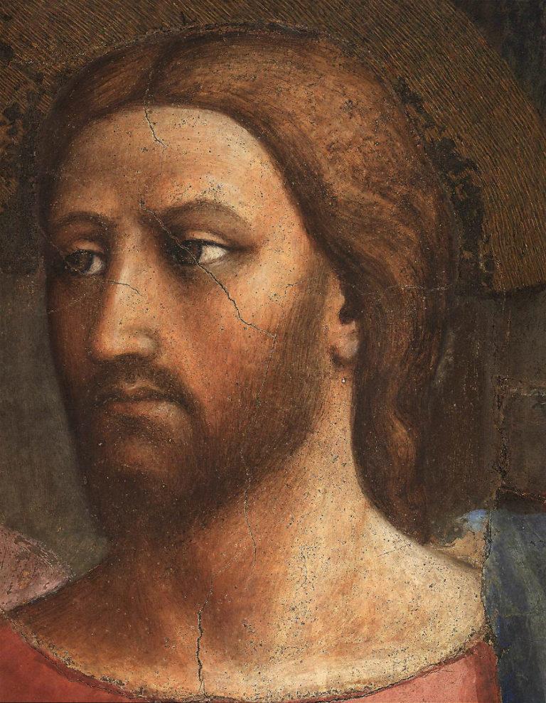 Чудо со статиром. Фрагмент. Лик Христа. Ок. 1425