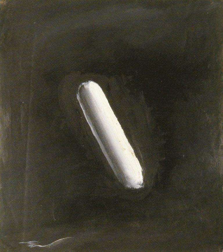 Чёрный квадрат с белым предметом. 1920-е