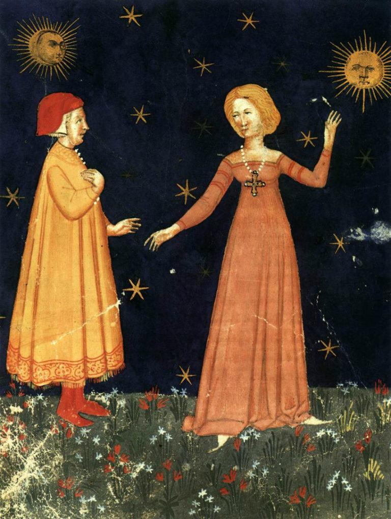 Данте и Беатриче. 1380–1400
