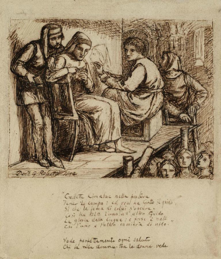 Джотто рисует портрет Данте. 1852
