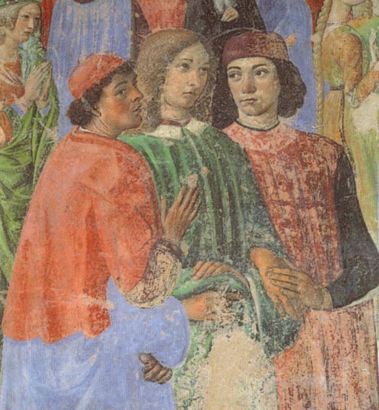 Джованни Пико делла Мирандола (в центре). 1481–1486