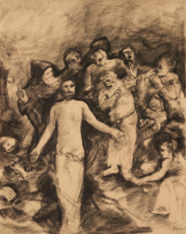 Эскиз фрески «Воскрешение». 1920-е
