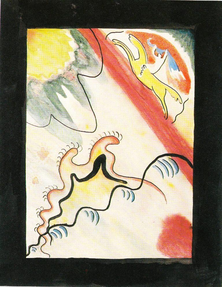 Эскиз обложки альманаха «Синий всадник». 1911