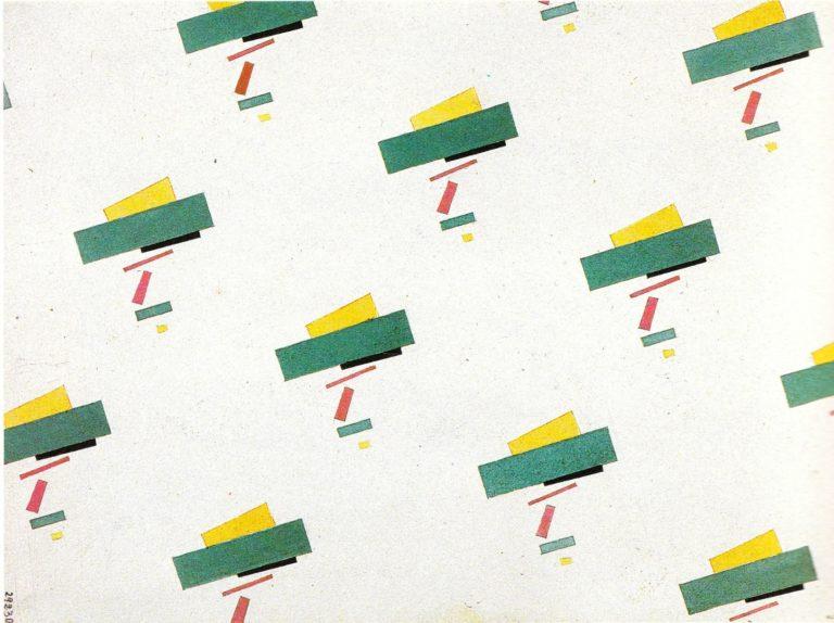 Эскиз росписи ткани. 1920-е