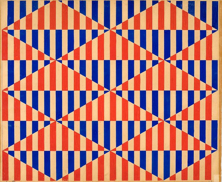 Эскиз росписи ткани. 1924