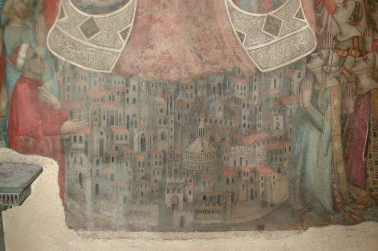Флоренция. Фрагмент фрески «Богоматерь милосердия». 1342