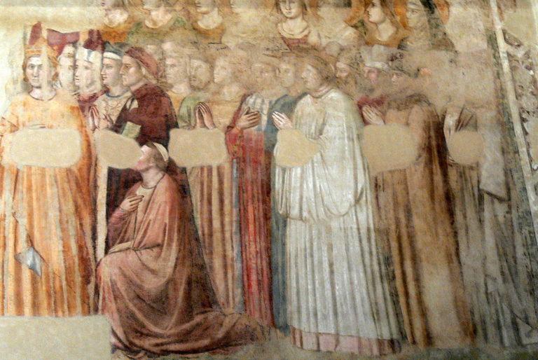 Фрагмент фрески. XIV в.