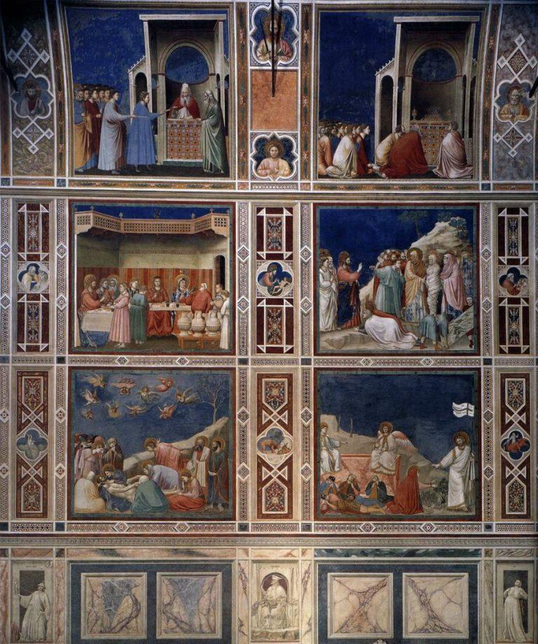 Фрагмент росписи северной стены капеллы Скровеньи. 1303–1305. Падуя