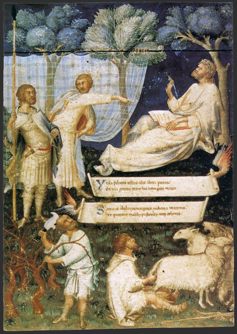 Фронтиспис к рукописи Вергилия, принадлежавшей Петрарке. 1340