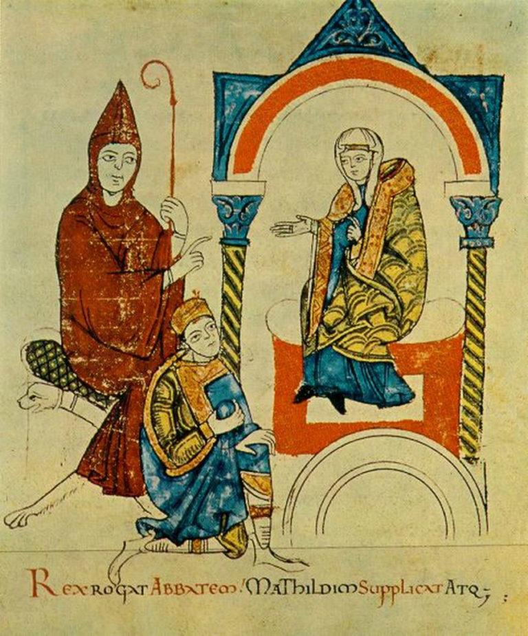Генрих IV просит Гуго Клюнийского и Матильду Тосканскую вмешаться в спор. Ок. 1115