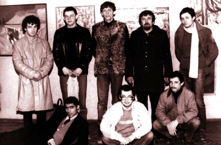 Группа «Искусство или смерть» на «Однодневной выставке». Таганрог, 1988