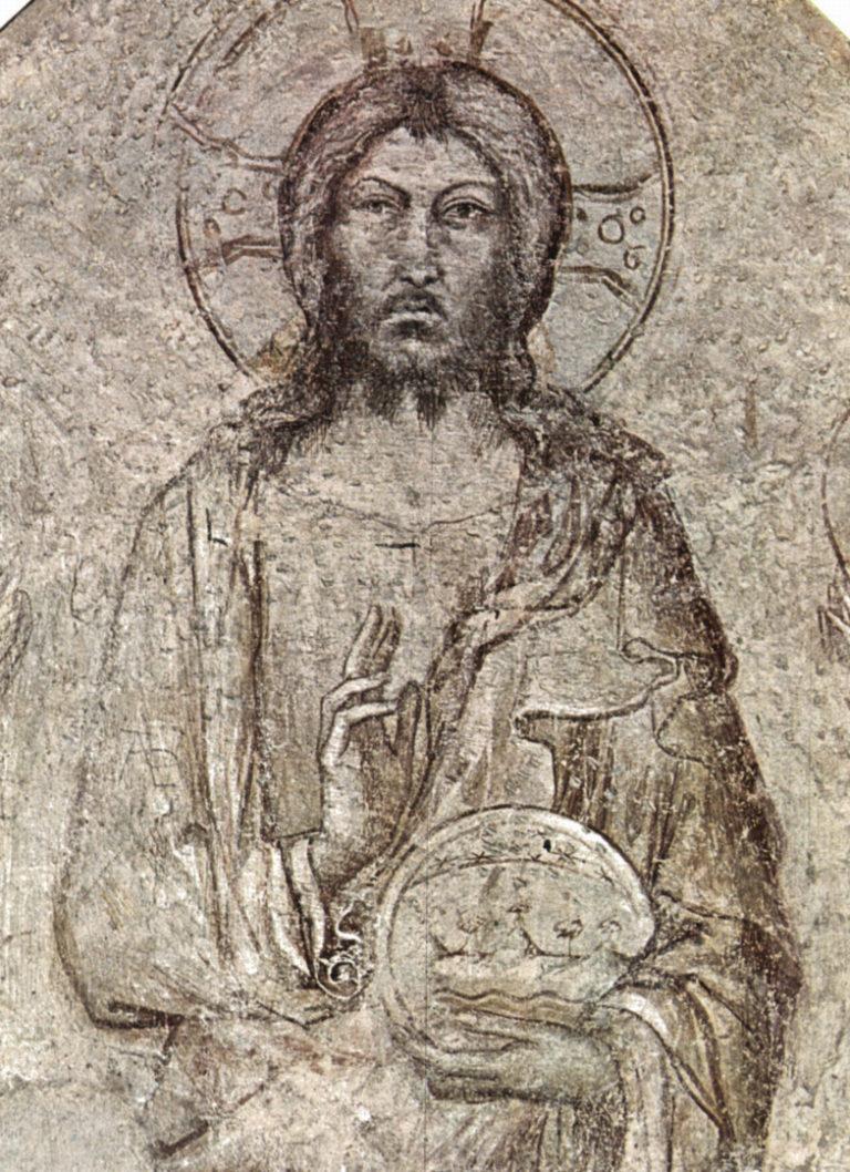 Христос Вседержитель с ангелами. Фрагмент. Ок. 1341