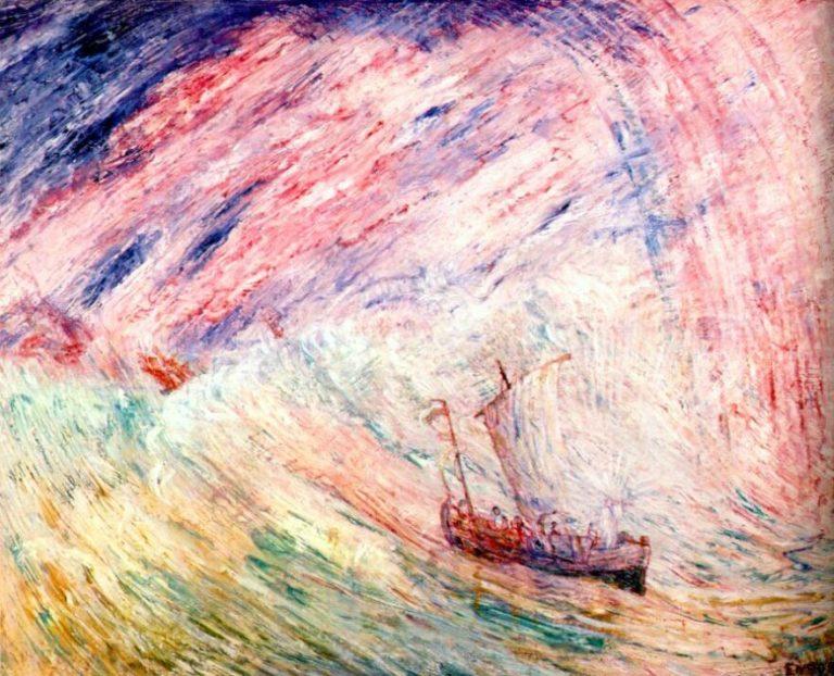 Иисус успокаивает бурю. 1897