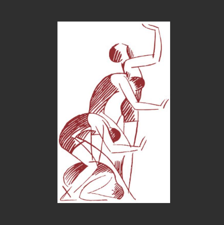 Иллюстрация из учебника по пластическому танцу Эмиля Жака-Далькроза (фр. Emile Jaques-Dalcroze, 1865–1950)
