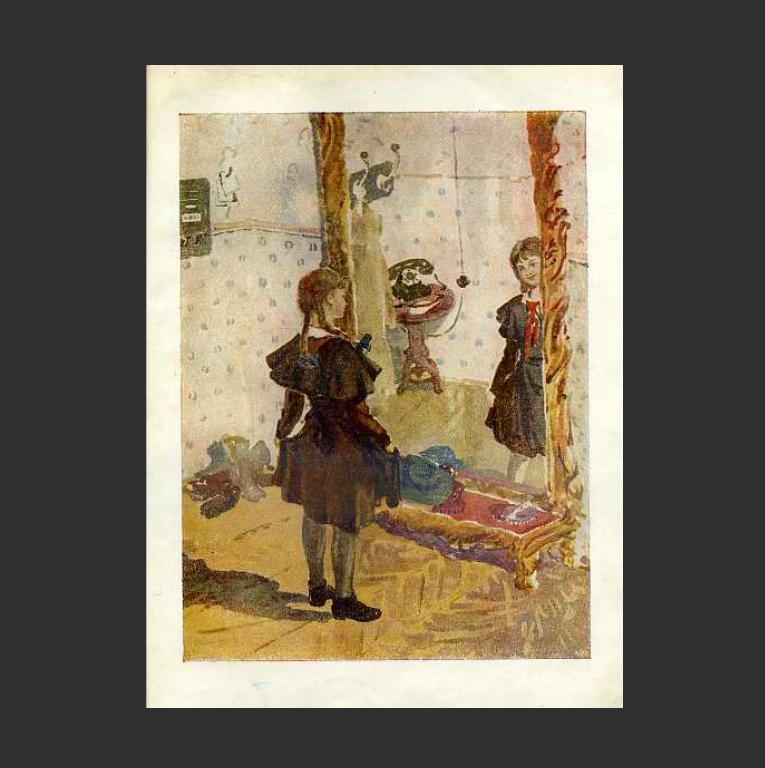Иллюстрация к книге В. Губарева «Королевство кривых зеркал». Ок. 1950