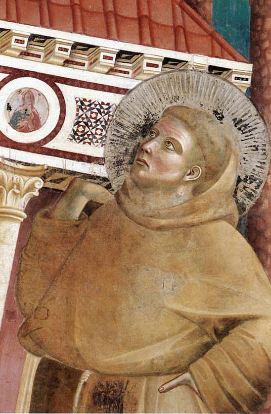 Иннокентию III является во сне Франциск, поддерживающий церковь. Фрагмент. Ок. 1296–1304