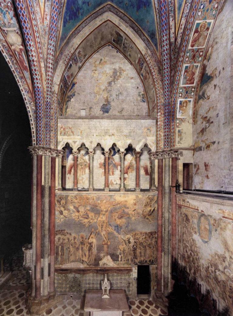 Интерьер нижней церкви Сан-Франческо в Ассизи. XIII–XIV вв.