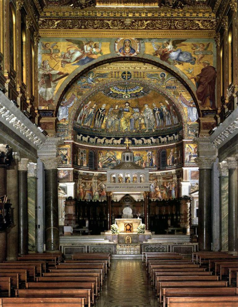 Интерьер церкви Санта-Мария-ин-Трастевере. XII–XIII вв. Рим
