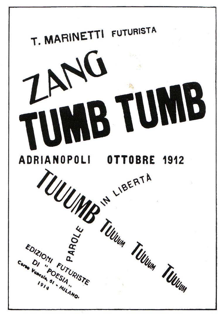 Издание поэмы Томмазо Маринетти «Занг Тумб Тумб». 1914