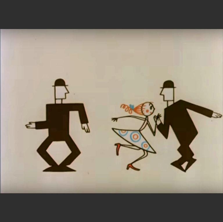 Кадр из мультипликационного фильма «Большие неприятности». 1961