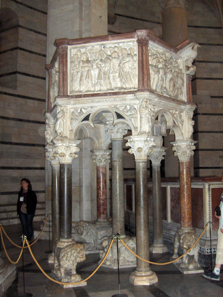 Кафедра в баптистерии св. Иоанна. 1255–1260