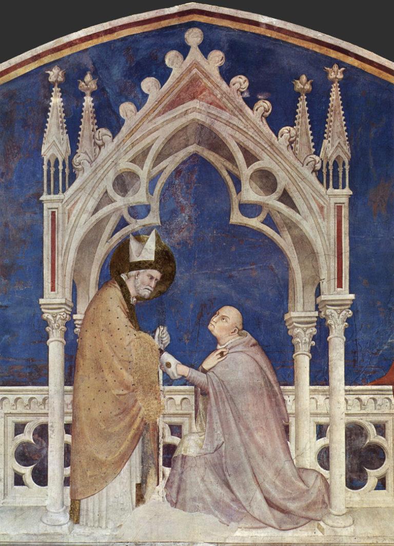 Кардинал Джентиле Партино (Сан Мартино аи Монти) перед св. Мартином. 1313–1318