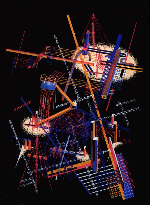 Композиция из цикла «Архитектурные фантазии (двоеточие) 101 композиция». 1925–1933