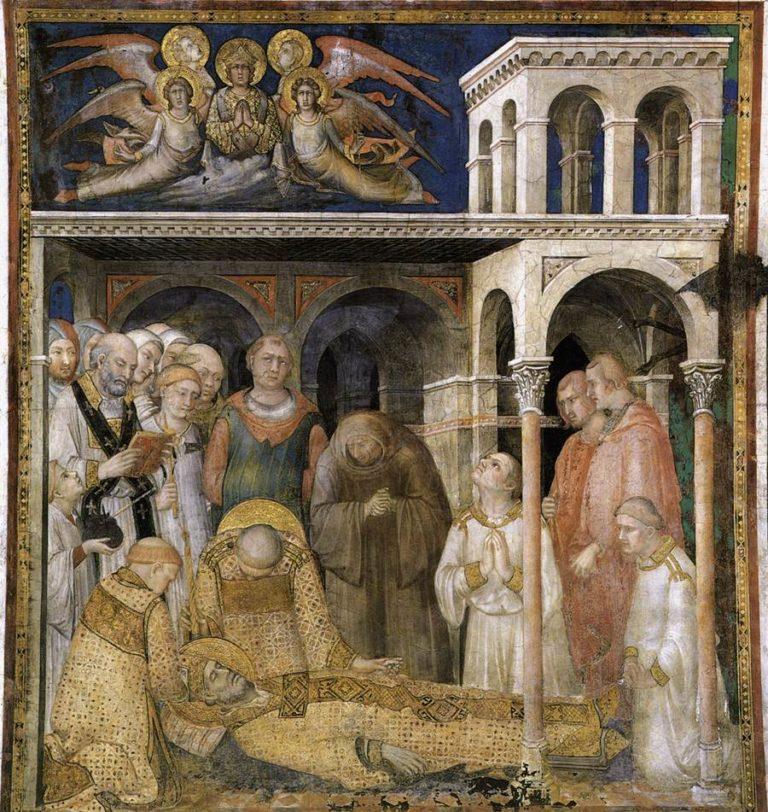 Кончина и погребение св. Мартина. 1313–1318