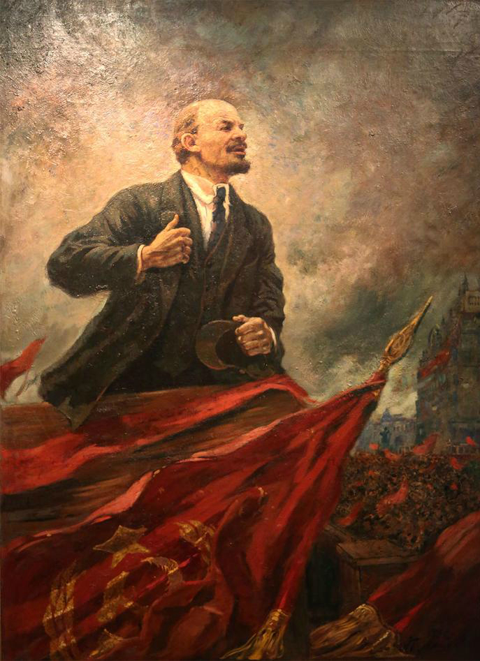 Ленин на трибуне. 1930