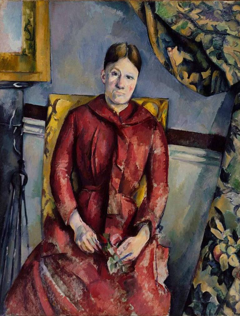 Мадам Сезанн в красном платье. 1888–1890