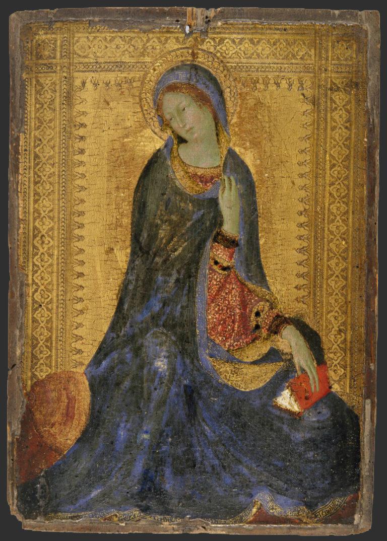 Мадонна из сцены «Благовещение». 1340–1344