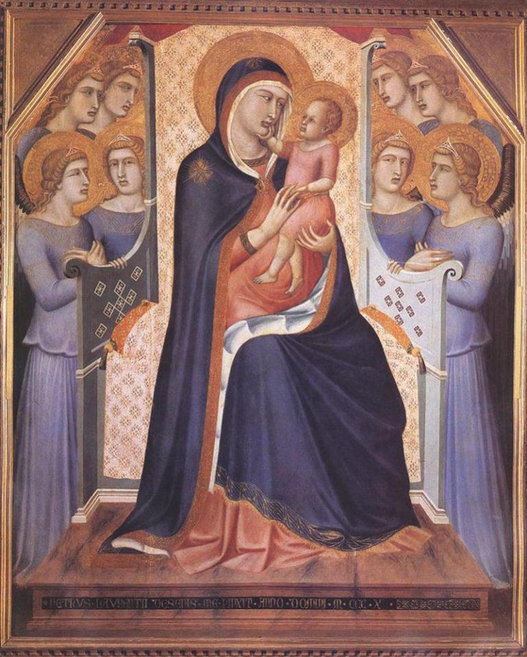 Мадонна на троне с ангелами. 1340