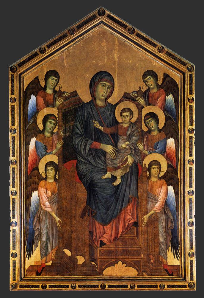 Мадонна на троне с ангелами. Ок. 1280