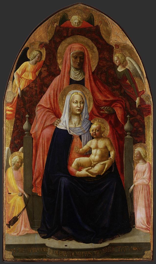 Мадонна с Младенцем и святой Анной. Ок. 1424