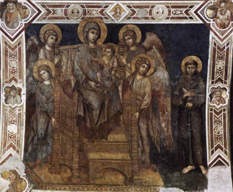 Мадонна с Младенцем, св. Франциском и четырьмя ангелами. 1278–1280