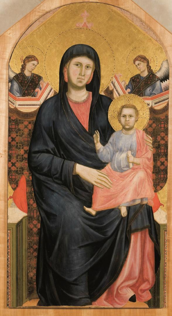 Мадонна с младенцем и двумя ангелами. 1295–1300