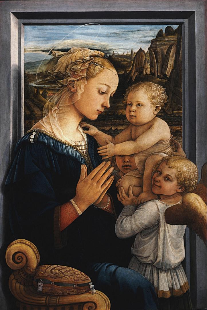 Мадонна с младенцем и двумя ангелами. 1460–1465