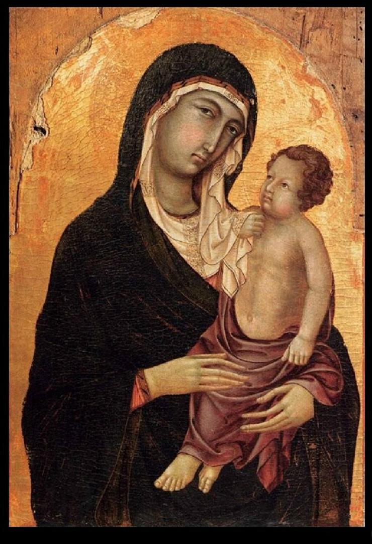 Мадонна с младенцем. 1315–1320