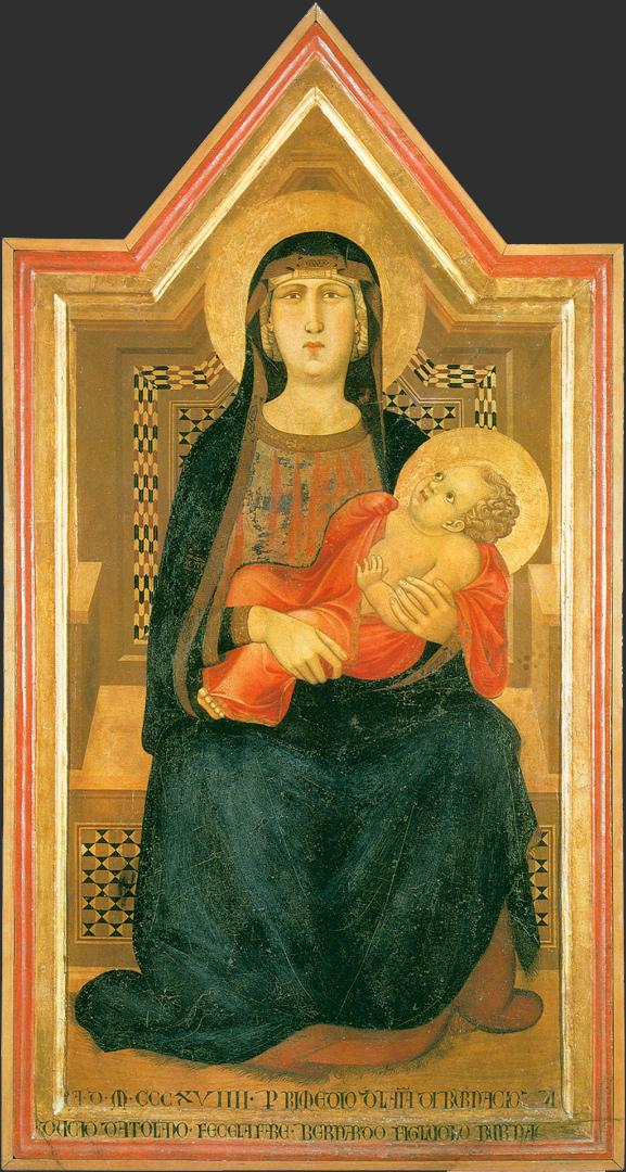 Мадонна с младенцем. 1319