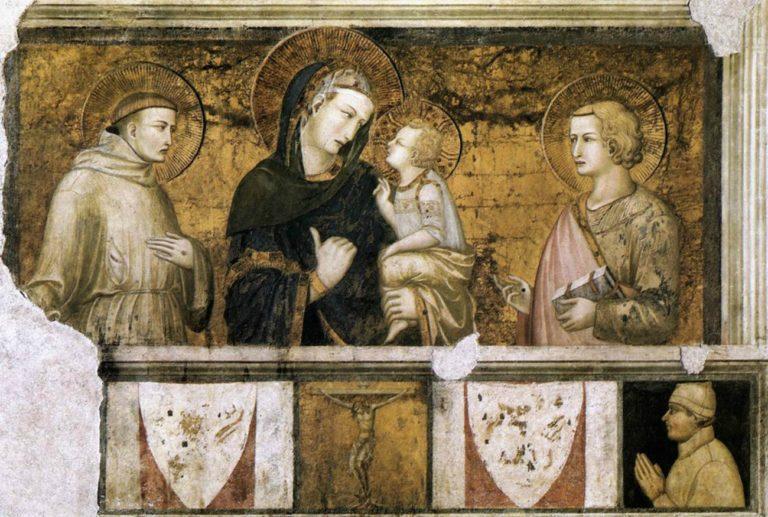Мадонна со св. Франциском и Иоанном Евангелистом. 1320