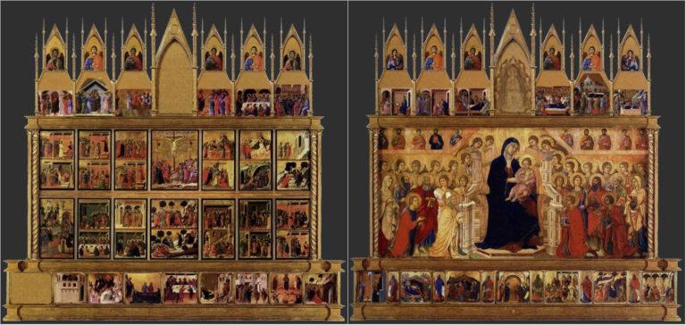 Маэста. Обе стороны. 1308–1311